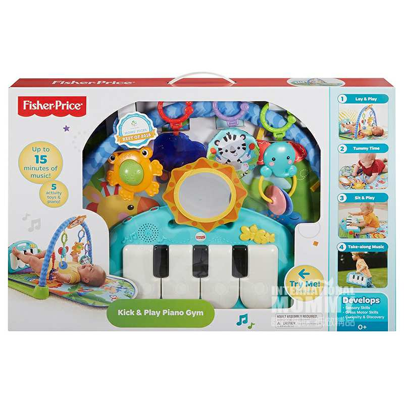 Fisher Price 美国费雪脚踏钢琴健身房玩具 海外本土原版